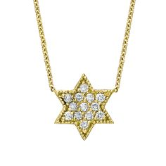 Diamond Pave Star of David Necklace - Binah Jewelry