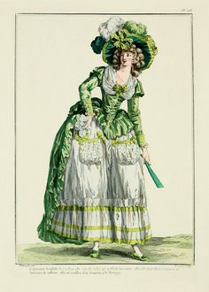 1786 French Fashion Plate