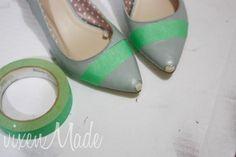 DIY spray paint pointy heels