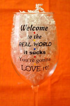 Welcome To The Real World It Sucks You're Gonna Love It - Monica Gellar - Friends TV Show - 1 Glass. by ChristisCustomVinyl on Etsy