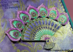 Paper Creations by Shirley: Peacock Fan by Chocolate Baroque