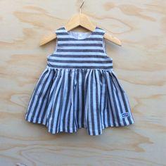 Striped sailor dress, little girl dress