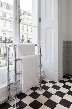 An essential luxury, the heated towel rail can be freestanding or wall-mounted, Art Deco or ball-jointed. Choose from beautifully finished classic chrome or opt for the elegance of polished nickel. #bathroom #heating #towelrails #luxurybathrooms