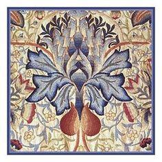 Título:Azul Cardo Cruz contada  Autor: William Morris Año:1896 País:Londres