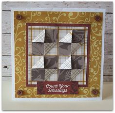 Fall Quilted Cards
