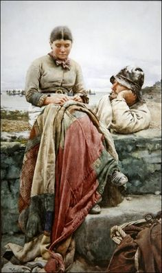 Walter Langley (June 8, 1852 – March 21, 1922)  was an English painter and founder  of the Newlyn School of plein air artists.  He was born in Birmingham.
