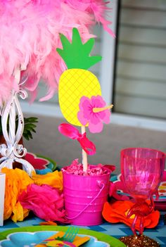 FLAMINGO Party - COMPLETE - Printables - Pink Flamingo - Girl Birthday Party - Hawaiian Luau - Summer Party - Pool Party - INSTANT DOWNLOAD