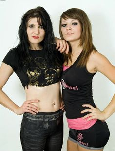 Sweet Saraya with her daughter Britani Knight well before she was WWE Diva Paige. #wwe #femalewrestling