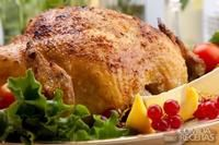Whole rotisserie chicken, honey mustard chicken wings, and chicken salad sandwiches highlight the menu; fish and chips add variety to table. Honey Mustard Chicken Wings, Sourdough Rolls, Broiler Chicken, Great Recipes, Favorite Recipes, Serbian Recipes, Serbian Food, Bacon, Wicked Good