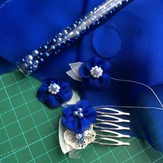 A custom order to match a beautiful sapphire ring... Work in progress