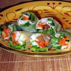 "Vietnamese Spring Rolls | ""See, food CAN be healthy and tasty!"" Vietnamese Spring Rolls 