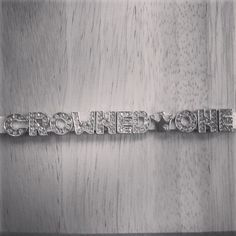 Crowned One Productions is ordering their custom bracelet to promote their business!  Order your own at https://facebook.com/myblingplace