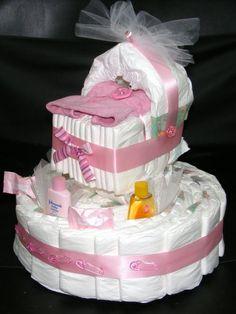How To Make A Baby Shower Diaper Cake | Home - Unique Diaper Cakes and Baby Shower Centerpieces