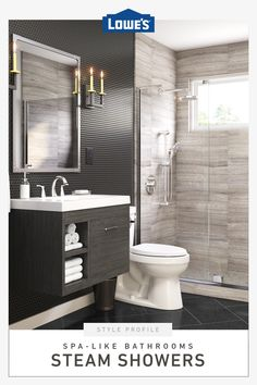 Easy upgrade idea: turn your bathroom into a spa with a steam shower from Lowe's. Easy upgrade idea: turn your bathroom into a spa with a steam shower from Lowe's. Spa Like Bathroom, Small Bathroom, Bathroom Ideas, Bathroom Organization, Shiplap Bathroom, Master Bathroom, Organization Ideas, White Bathroom, Bathroom Storage