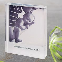 personalised photo acrylic block by a.musing