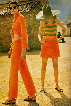 1967    Fashion Editorial.  ELLE French,July 1967