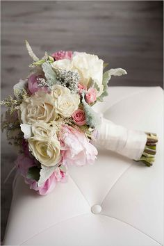 Wedding bridesmaid flowers ... floral Pastel bouquet ... rustic glamorous, vintage, country elegance, shabby chic