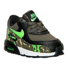 Boys' Toddler Nike Air Max 90 Premium Running Shoes - 724881 003 | Finish Line