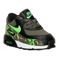 Boys' Toddler Nike Air Max 90 Premium Running Shoes - 724881 003 | Finish Line