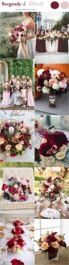 Blush and Burgundy Fall Wedding Ideas / www.deerpearlflow... #weddings #wedding #marriage #weddingdress #weddinggown #ballgowns #ladies #woman #women #beautifuldress #newlyweds #proposal #shopping #engagement