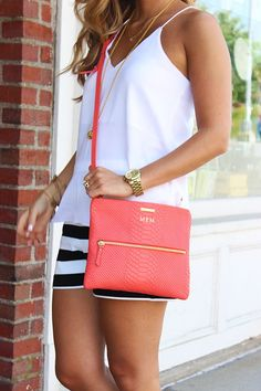 love the tank and the bag. cross body bags are the only purses I like to carry.