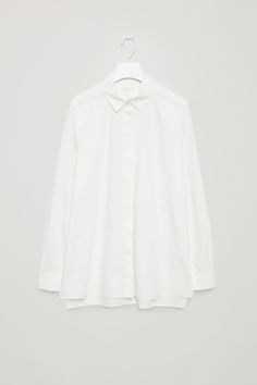 COS image 2 of Tailored cotton shirt in White