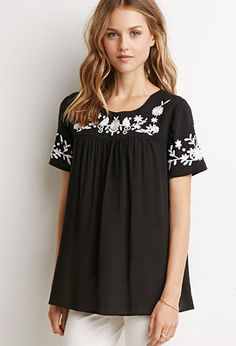 Floral Embroidered Top | Forever 21 - 2000054084