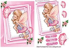 - Faerie sitting on a mushroom kissing a butterfly on pretty lace stackers, makes a pretty card Quick Cards, Pretty Cards, Kids Cards, Kissing, Vintage Postcards, Faeries, Boys, Girls, Mystic