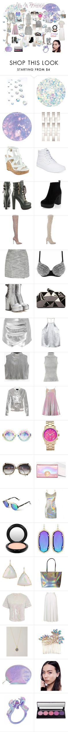 """""""In A Trance"""" by zenobiaourania ❤ liked on Polyvore featuring In Your Dreams, Deborah Lippmann, SpaRitual, Amara, GUESS, Vans, Luichiny, New Look, Le Silla and Stuart Weitzman"""
