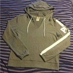 Vs pink hoodie Women's grey vs pink hoodie. Excellent condition no flaws its brand new just ripped off tags tried on but didn't like the fit PINK Victoria's Secret Tops Sweatshirts & Hoodies