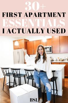 such a good first apartment checklist for someone moving into the first place! this was super helpful College Apartment Checklist, College Apartment Bathroom, First Apartment Essentials, Apartment Hacks, Apartment Kitchen, Apartment Living, Living Room, Ikea, Apartment Decorating On A Budget