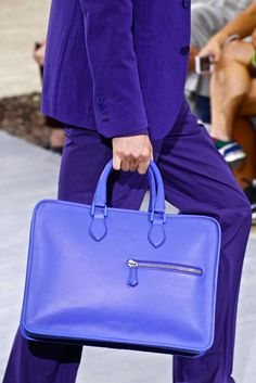 on the runway — ratsimons: Berluti Vogue Paris, Leather Briefcase, Leather Bag, Bridal Wedding Dresses, Spring Summer 2016, Men's Collection, Hermes Birkin, Lilac, Lavender