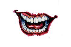 Joker Smile Hand Tattoo, Joker Mouth Tattoo, Skull Hand Tattoo, Batman Tattoo, Joker Drawings, Tattoo Drawings, Hand Tattoos For Girls, Smile Drawing, Joker Art