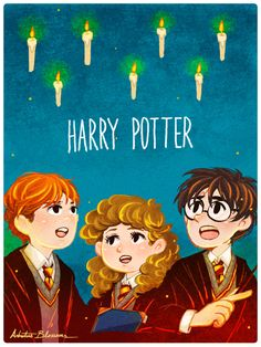 Harry Potter - the golden trio - by Arbutus Blossoms gif