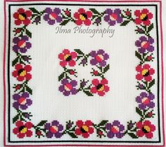 Cross Stitch Borders, Cross Stitch Flowers, Cross Stitch Designs, Menhdi Design, Cross Stitch Cushion, Hand Embroidery Videos, Hobbies And Crafts, Bridal Dresses, Crochet