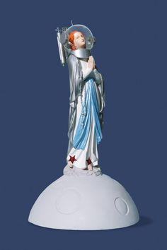 Soasig Chamaillard | Détournement Statue Sainte Vierge | Nouvelle Lune
