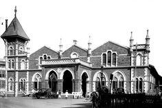 Colaba rly stn, terminus of suburban rly, 1896 Bombay To Mumbai, View Photos, Old Photos, Heritage Railway, Mumbai City, Revival Architecture, City That Never Sleeps, Dream City, Historical Photos