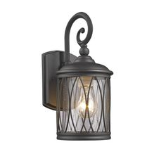 Chloe Lighting Dinadan Transitional 1 Light Black Outdoor Wall Sconce 13 inch Height, Size: One size Outdoor Wall Lighting, Porch Lighting, Outdoor Wall Sconce, Glass Lighting, Outdoor Lighting Store, Outdoor Walls, Wall Sconces, Wall Lantern, Lights