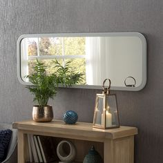 Light Grey Rectangular Wall Mirror - x - , available to buy online or at Choice Furniture Superstore UK on stockist sale price. Get volume - discount with fast and Free Delivery. Unique Mirrors, Mirrors For Sale, Grey Mirrors, Contemporary Mirrors, Modern Mirrors, Framed Mirrors, Over The Door Mirror, Mirror With Lights, Modern Mirror Design
