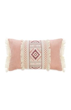 Primark - Pink Ruffles And Print Cushion