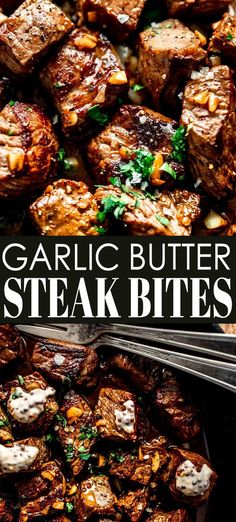 Garlic Butter Steak Bites with Creamy Mustard Dipping Sauce are the perfect appetizer to serve at your next party or serve them up for dinner with a couple sides. The best part? They'll be on your table in under 15 minutes! // easy // recipe // dinner // appetizers // skillet // tender Steak Tips, Steak Recipes, Cooking Recipes, Salmon Recipes, Garlic Butter Steak, Butter Steak Sauce, Creamy Steak Sauce, Steak Appetizers, Appetizer Recipes