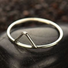 Sterling Silver Triangle Stacking Ring ~ Size 6