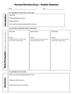 personal narrative graphic organizer personal narrative essay graphic organizer sharepdfnet - What Is A Personal Narrative Essay