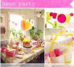 Neon party   from Lorajean's Magazine