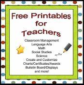 Free printables for teachers