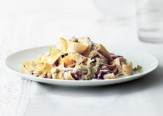 Creamy Pappardelle with Leeks and Bacon