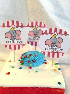 Personalized DUMBO Child Birthday Cupcake Picks Toppers #LittlePeapod #BirthdayChild