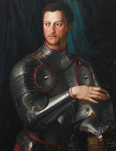 http://www.pinterest.com/pin/138837600987417664/ | Cosimo I de' Medici in armour, circa 1545 |  http://www.pinterest.com/pin/138837600987417819/
