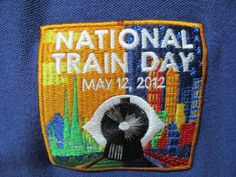 National Train Day 2012 Sz Medium M Polo Rugby Discover The Rail Ways Blue Shirt #PortAuthority #PoloRugby