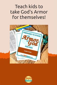When you teach the Armor of God, you could potentially change your kids' lives forever. And this Leader's Guide will give you everything you need to do it: 6 printable lesson plans that are easy for you to teach; creative Intro Activities for each lesson, so you can catch your kids' interest right away; and review questions & Application Activities for each lesson. Perfect for Sunday School, children's ministry, or VBS! Click through for more info. Armor Of God, Bible Lessons, Sunday School, Teaching Kids, Ministry, Lesson Plans, Printable, Change, Activities